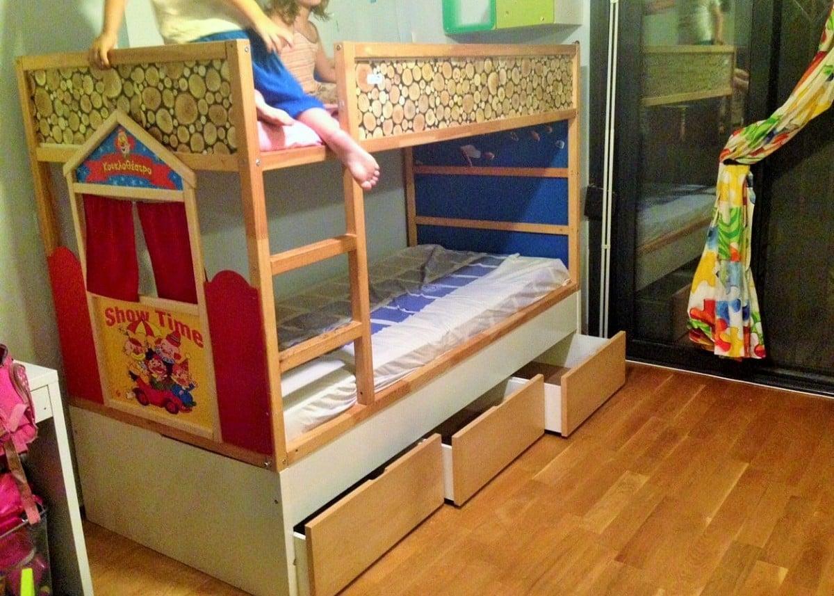 kura puppet theatre bed ikea hackers. Black Bedroom Furniture Sets. Home Design Ideas