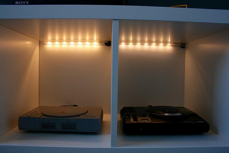 ikea strip lighting. KALLAX Retro Console Display IKEA Hackers Ikea Strip Lighting