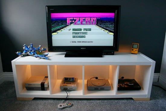 KALLAX Retro Console Display | IKEA Hackers