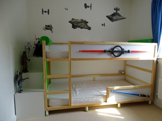 Kura trofast stuva bed hack ikea hackers for Lit woody wood