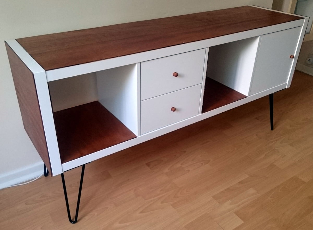 Ikea kallax sideboard hack for Meubles kallax