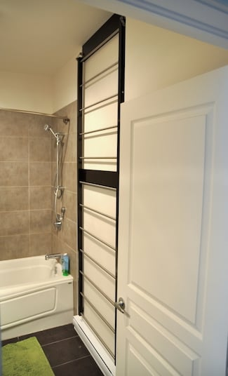 Stow away towel dryer - stowed