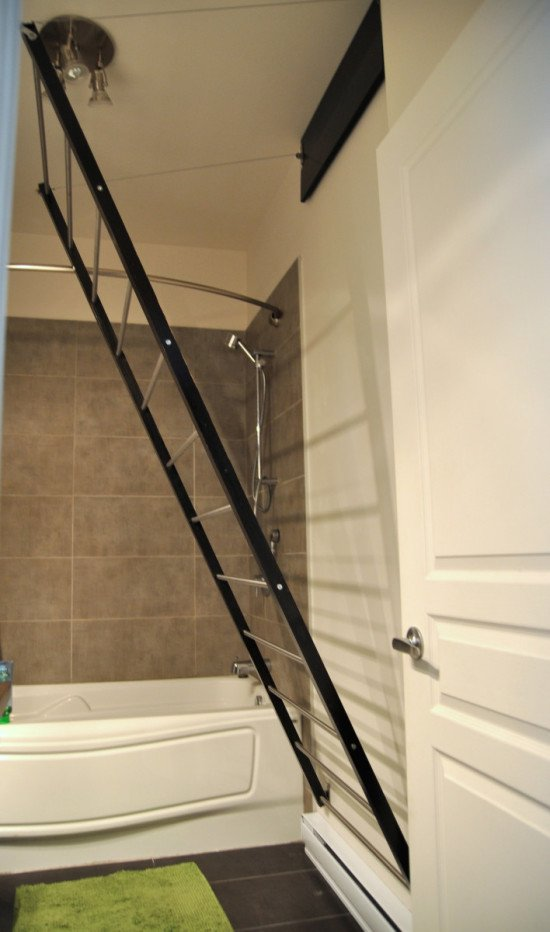 Stow away towel dryer - opened