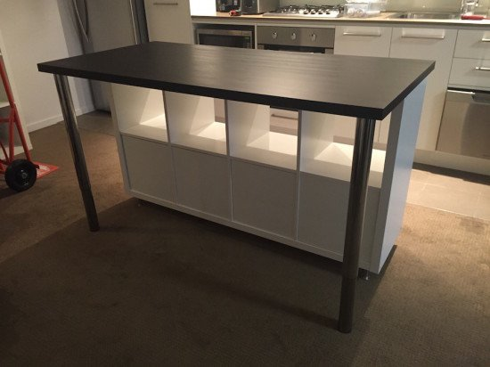 Cheap, Stylish IKEA designed Kitchen Island Bench for under $300 | IKEA Hackers