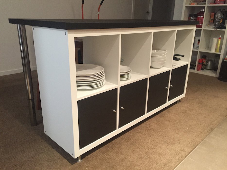 Cheap, Stylish IKEA designed Kitchen Island Bench for under $300!