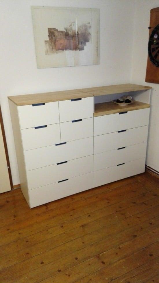 NORDLI with birch top | IKEA Hackers