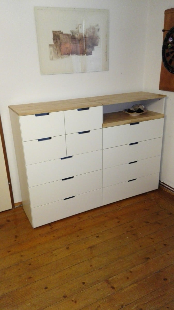 nordli with birch top ikea hackers ikea hackers. Black Bedroom Furniture Sets. Home Design Ideas