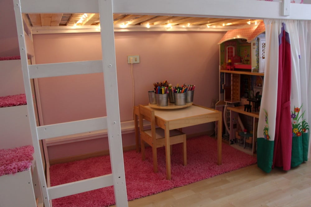 marvelous Ikea Hack Loft Bed Part - 17: MYDAL Loftbed with play area for girlu0027s room | IKEA Hackers