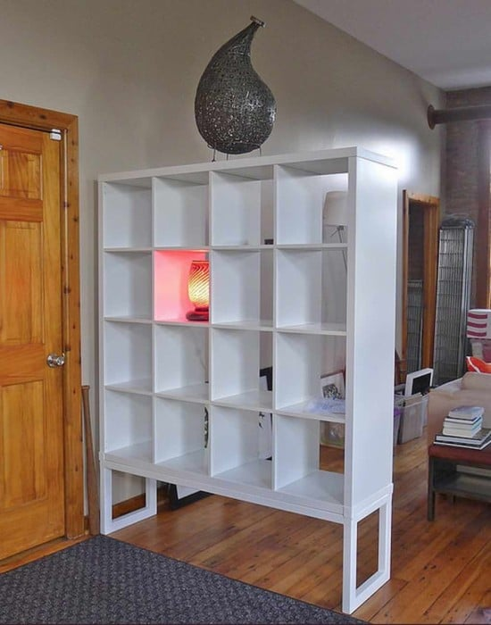 KALLAX high impact room divider | IKEA Hackers