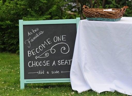 MALA Chalkboard Wedding Sign   IKEA Hackers