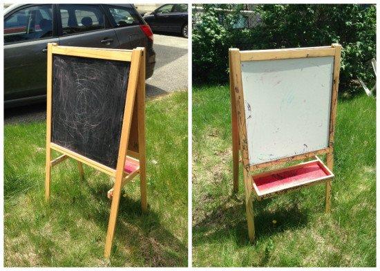MALA Chalkboard Wedding Sign - before