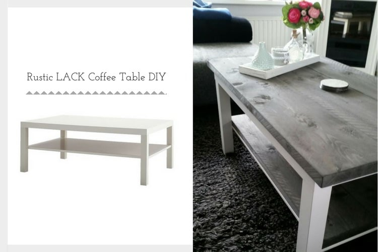 Ikea Lack Rustic Coffee Table Diy Ikea Hackers Ikea