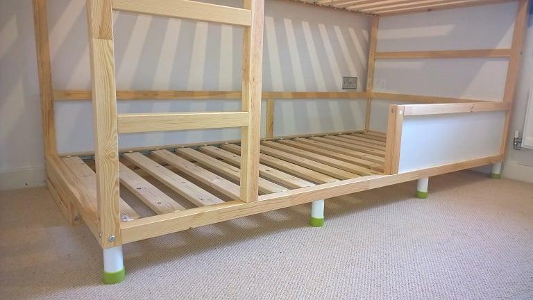 Kura trofast stuva bed hack ikea hackers for Ikea wooden bunk beds