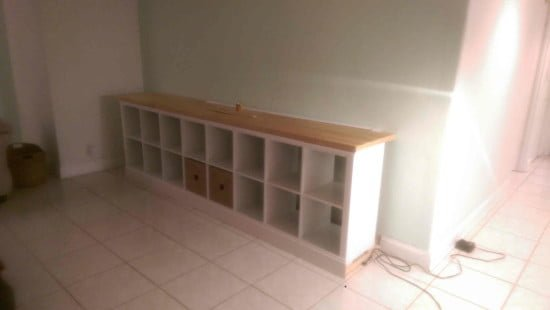 Built-in EXPEDIT entertainment center - almost