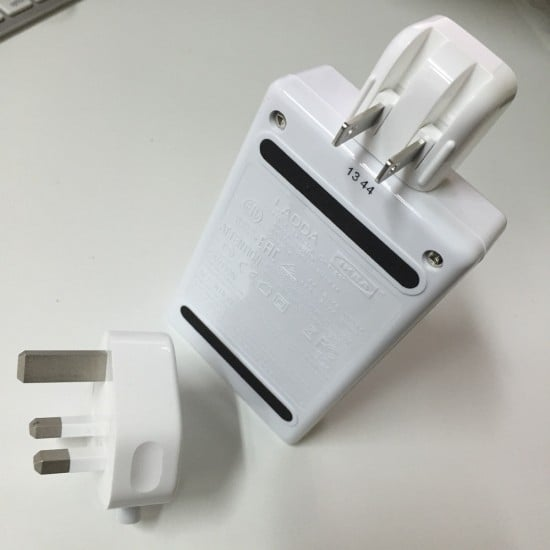 Apple adapters for LADDA Battery Charger
