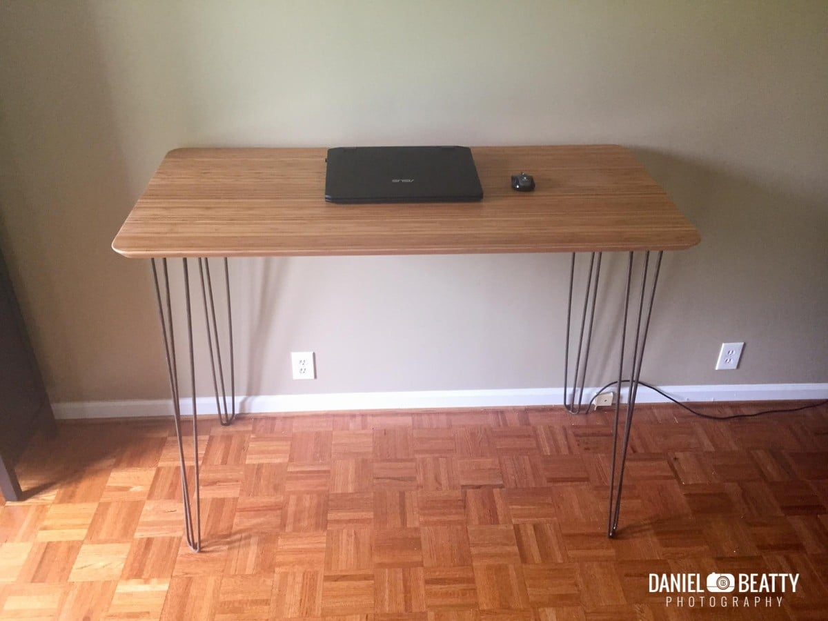 bamboo and steel ikea hilver standing desk ikea hackers ikea hackers. Black Bedroom Furniture Sets. Home Design Ideas