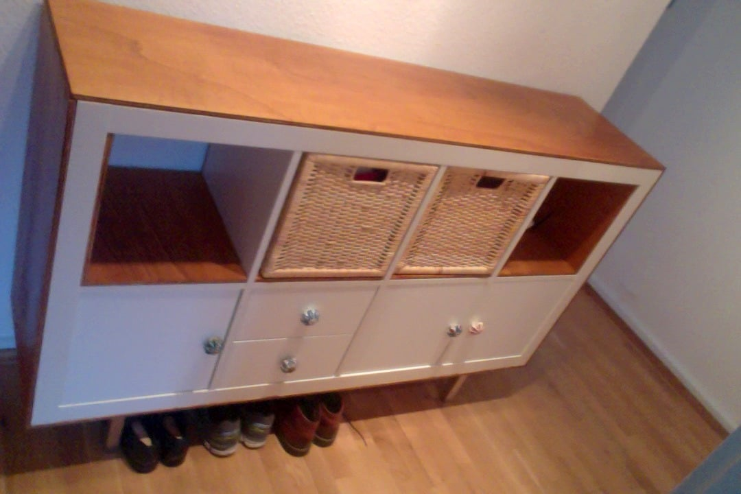 Ikea Expedit S Bold New Look With Plywood Trim Ikea Hackers