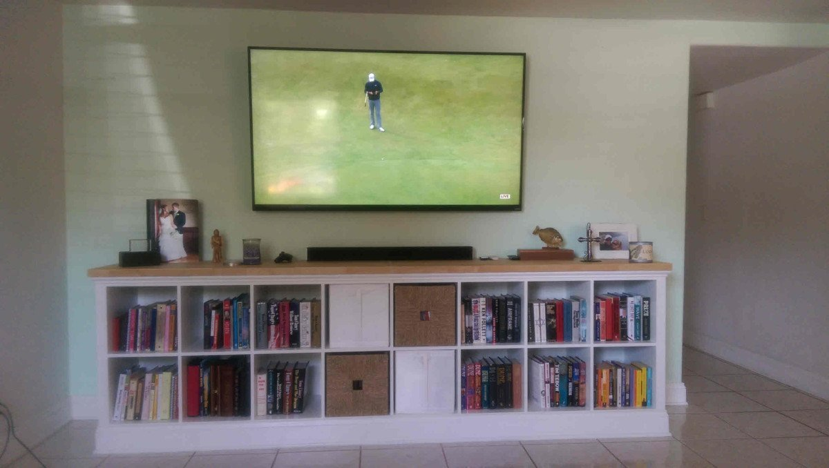 Built In Expedit Entertainment Center Ikea Hackers