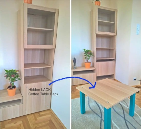 Hidden Coffee Table Hack | IKEA Hackers