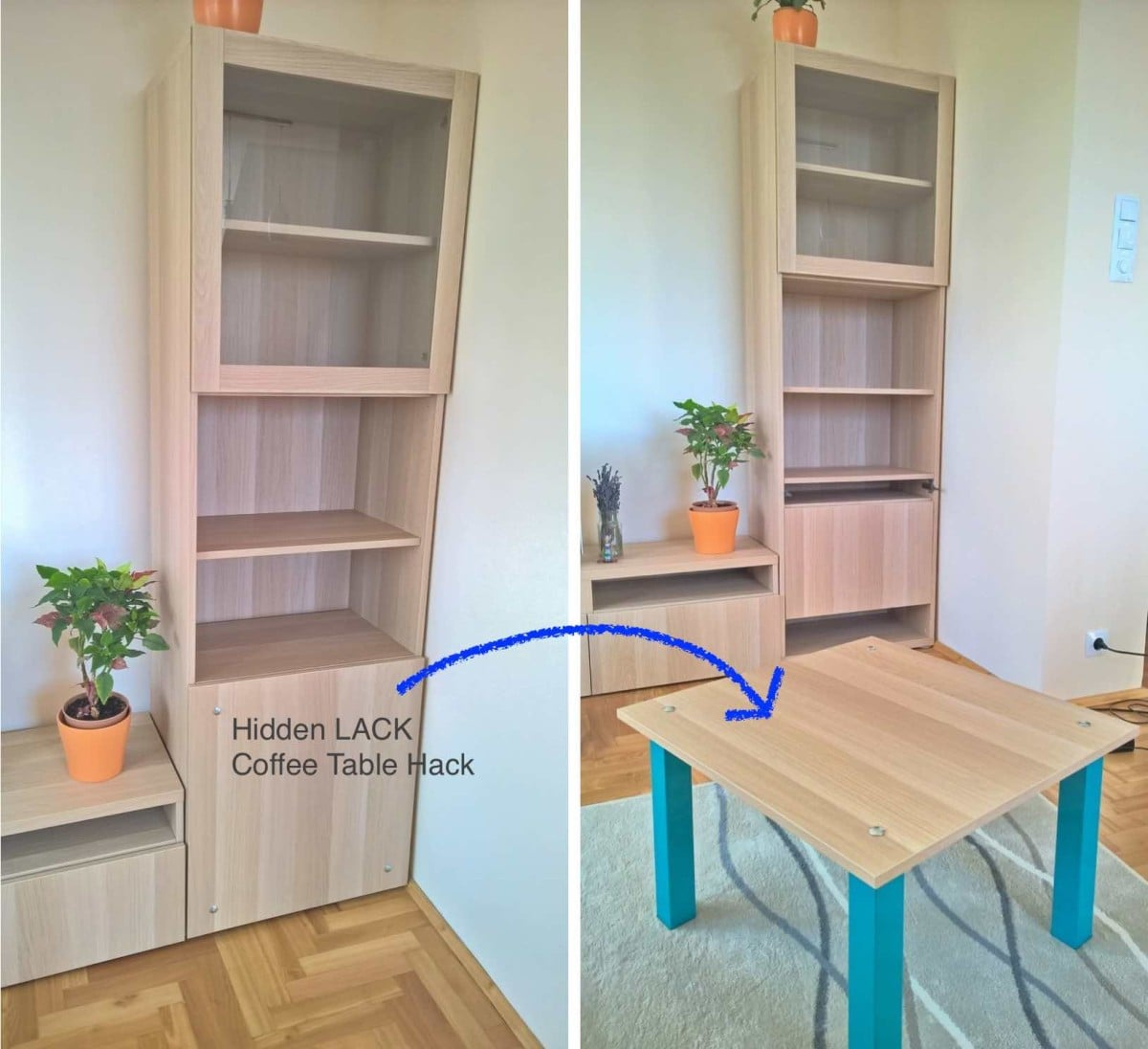 Ikea Coffee Table Cubby Holes: Hidden Coffee Table Hack
