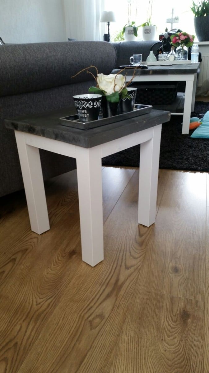 ikea lack rustic coffee table diy ikea hackers ikea hackers. Black Bedroom Furniture Sets. Home Design Ideas
