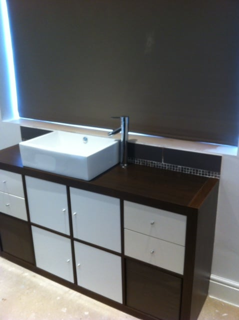 Expedit bathroom vanity | IKEA Hackers