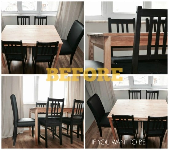 IKEA INGO dining table - before