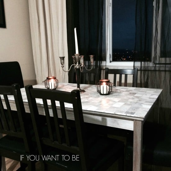 IKEA INGO dining table tiled | IKEA Hackers