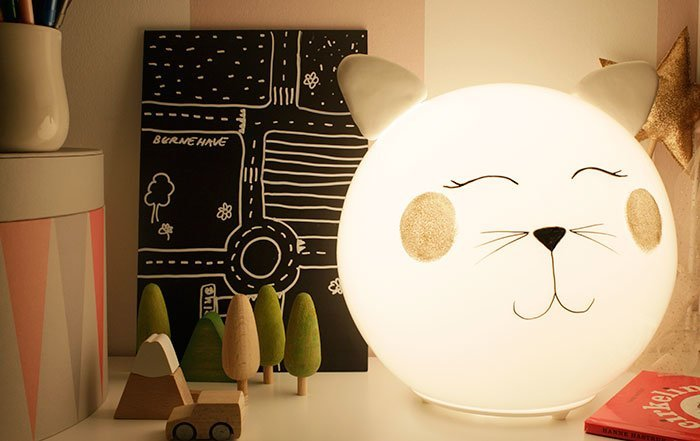 diy kitty lamp with fado ikea hackers. Black Bedroom Furniture Sets. Home Design Ideas