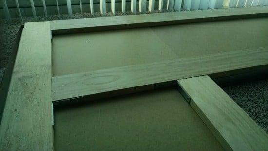 Reinforce large Corner Desk with pine boards | IKEA Hackers