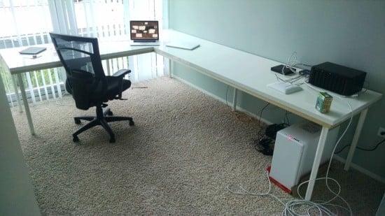 Hack a large corner desk | IKEA Hackers