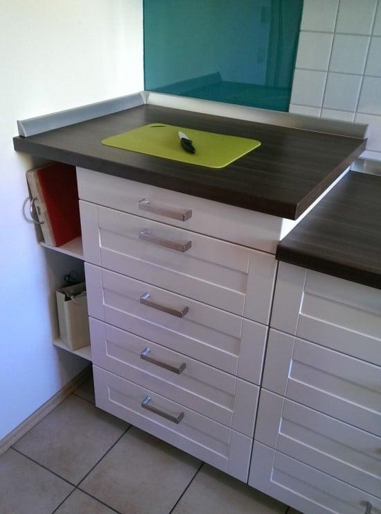 Elevated IKEA METOD kitchen countertop | IKEA Hackers