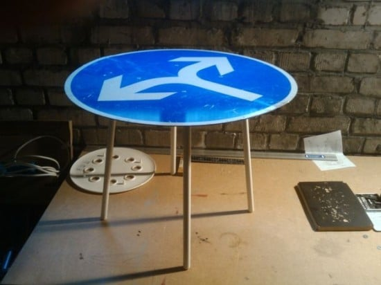 Marius street sign side table | IKEA Hackers