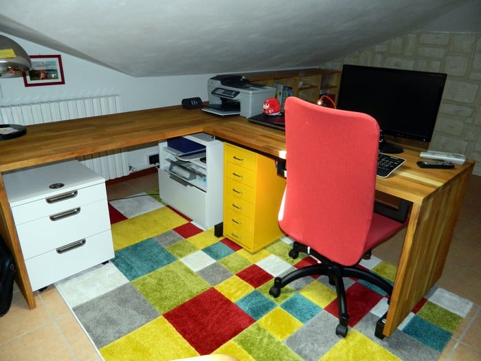 Ikea Hammarp Countertop Office Desk