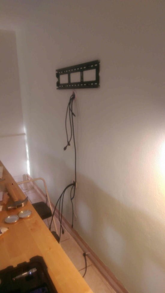 Built-in EXPEDIT entertainment center - wires