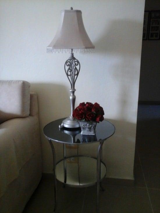 Mirrored KLINGSBO side table