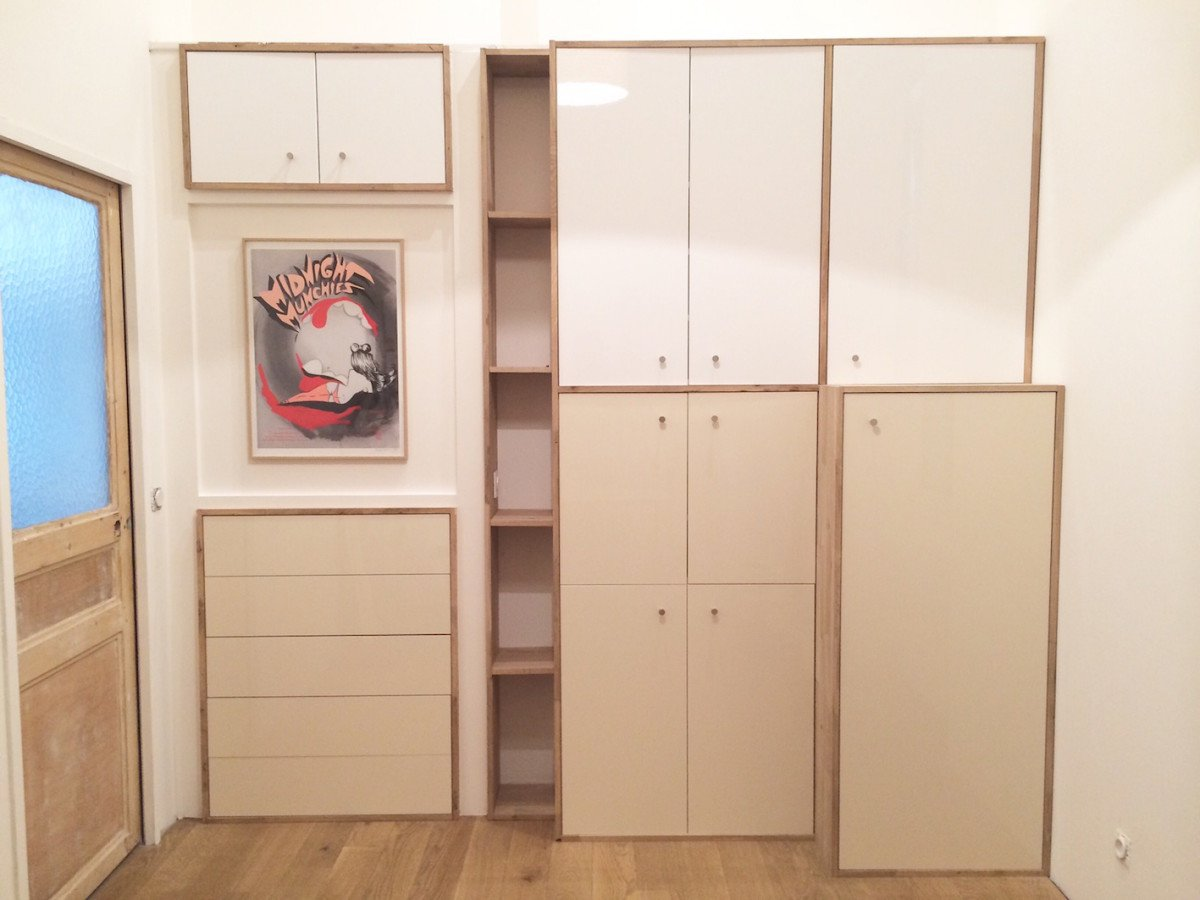 Ikea metod cabinets as a full length wardrobe for Kitchen wardrobe cabinet