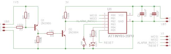 Child's Visual Alarm Clock - Alarm Clock LED Schematic