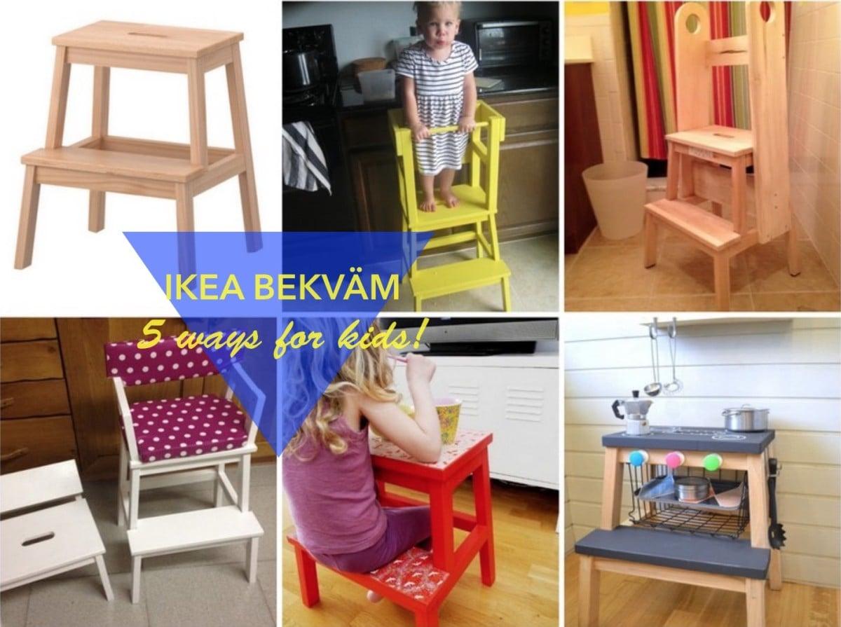 5 fun ways to use the BEKVAM step stool