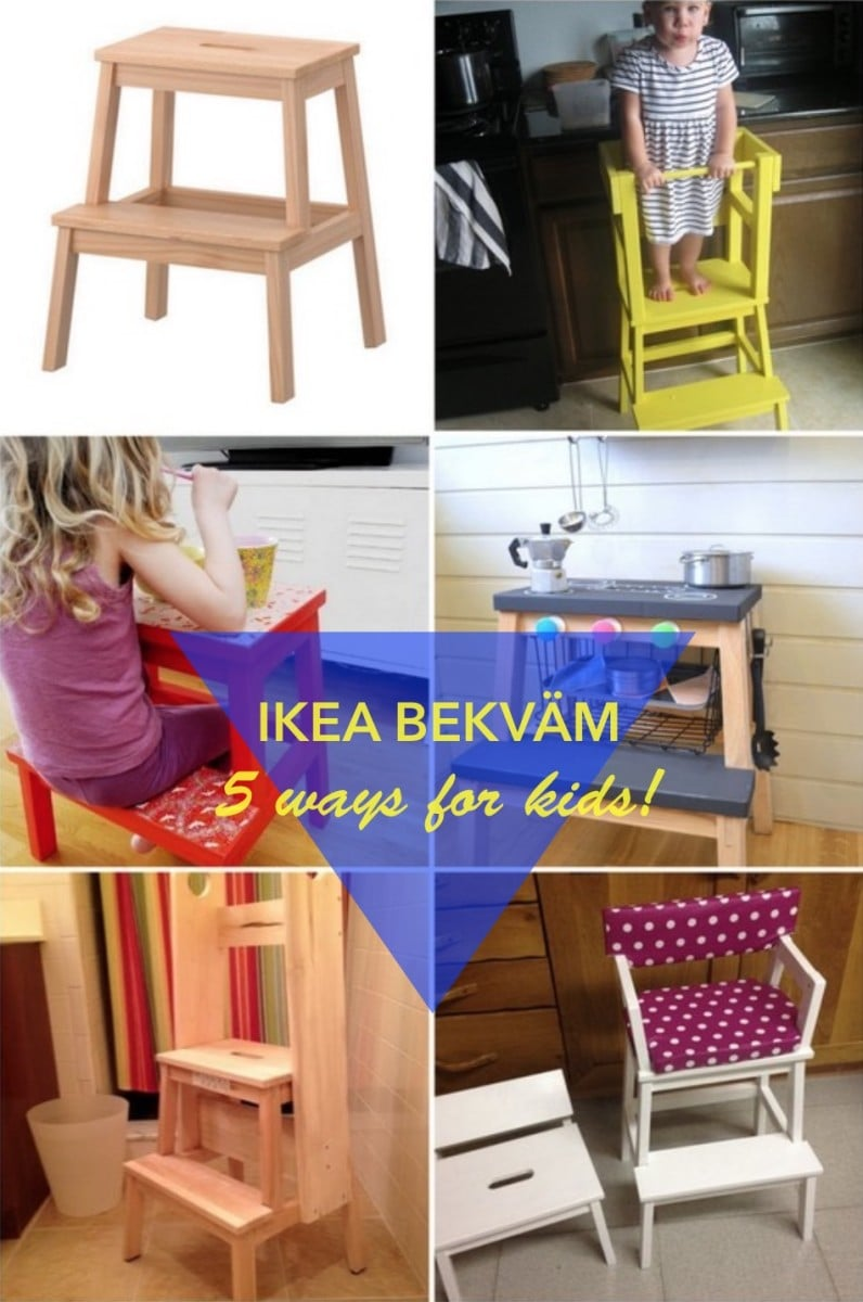 5 fun ways to use the bekvam step stool for kids ikea hackers