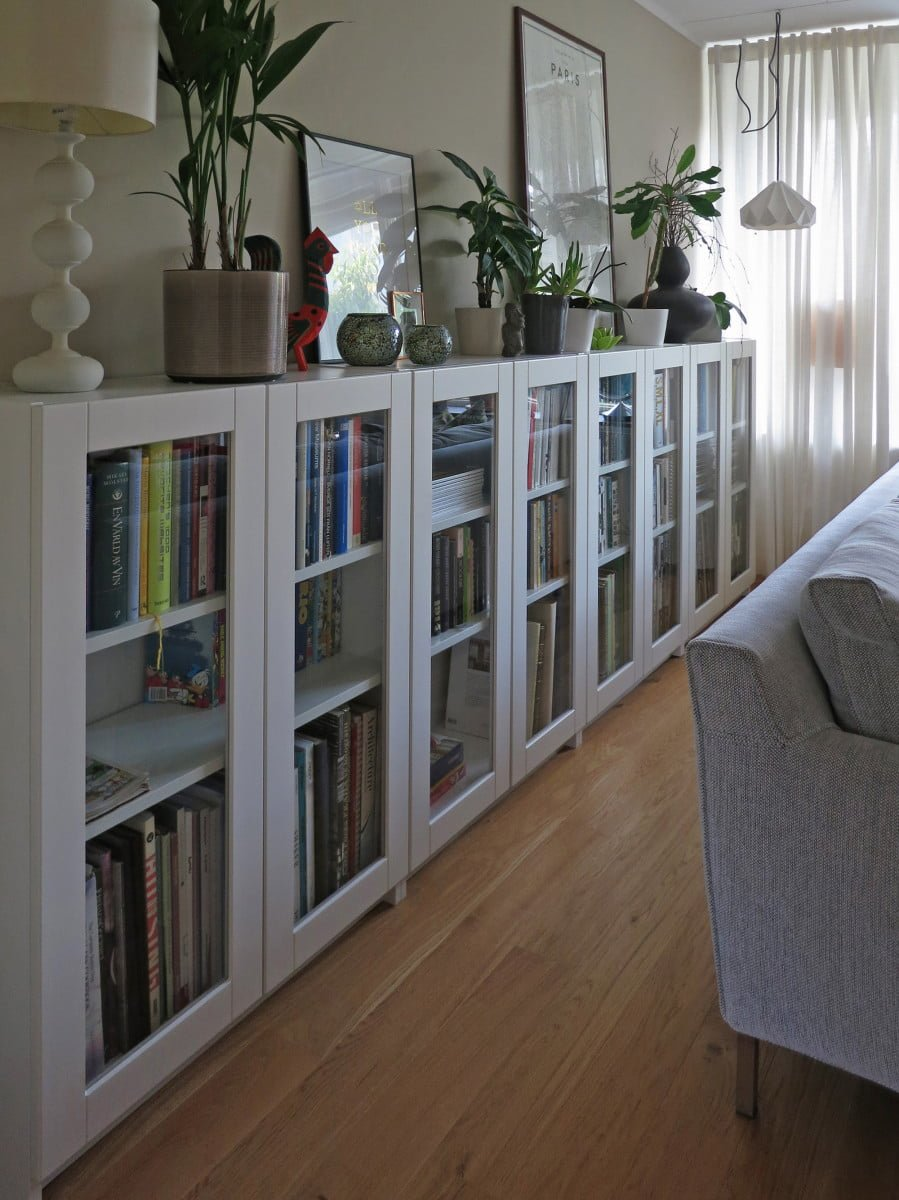 BILLY Bookcases With GRYTNS Glass Doors
