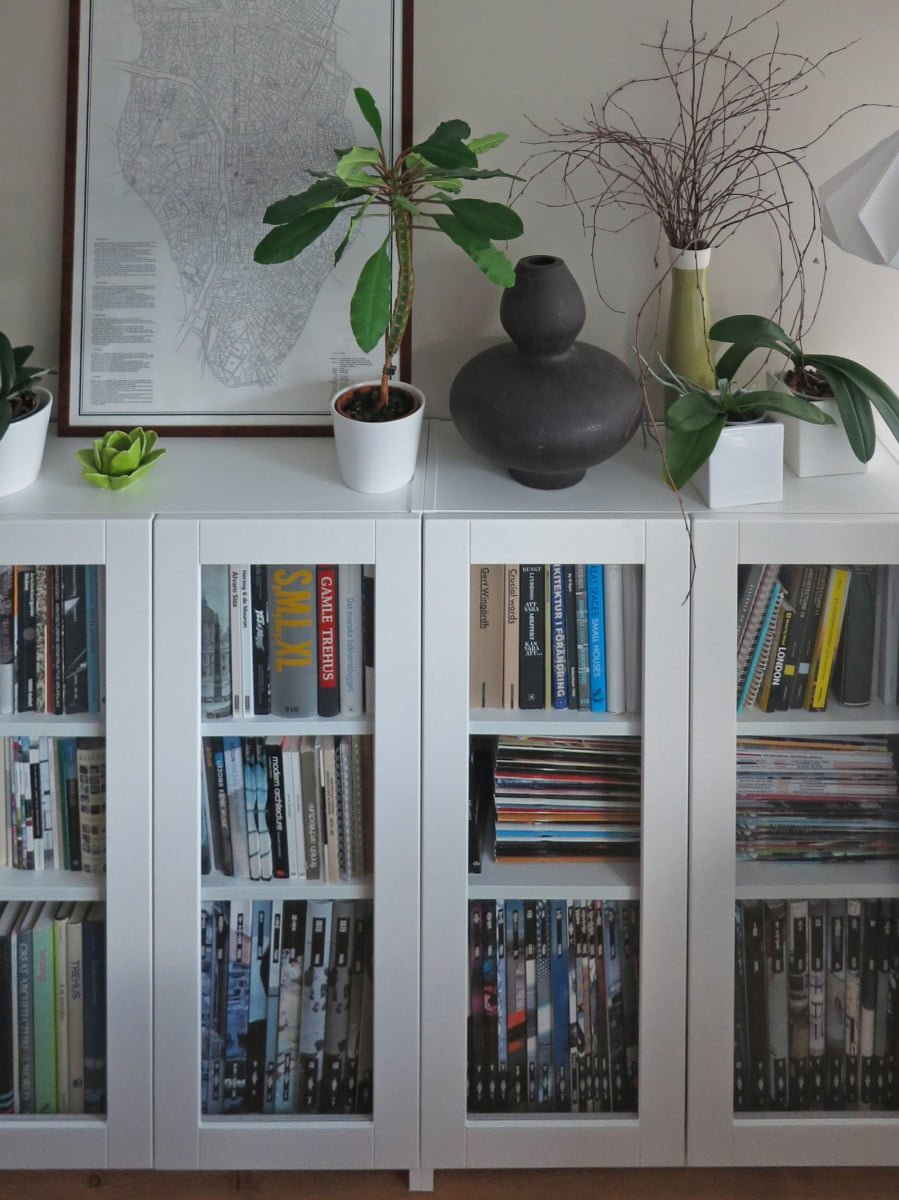 BILLY bookcases with GRYTNÄS glass doors  IKEA Hackers  IKEA