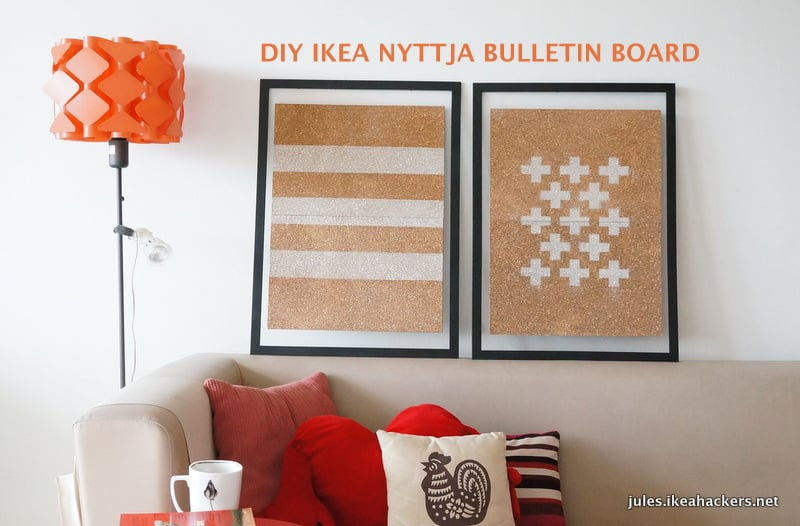 Diy ikea nyttja bulletin board ikea hackers for Ikea cork board