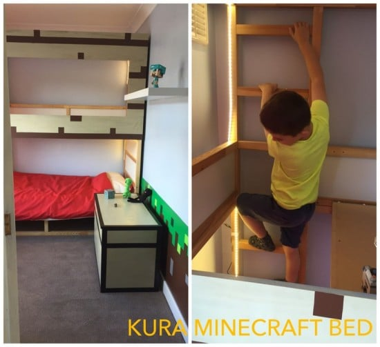 IKEA KURA Minecraft decor bed hack