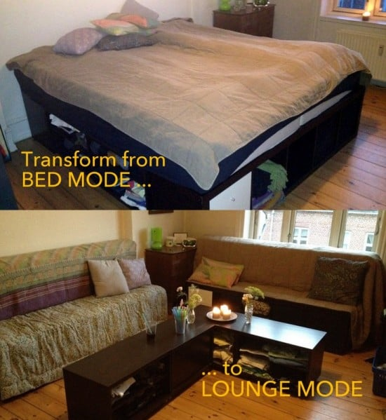 Transformable EXPEDIT Bed to Lounge set   IKEA Hackers