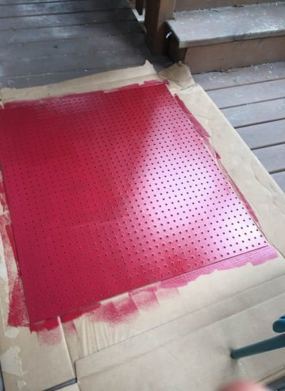 pegboard painted