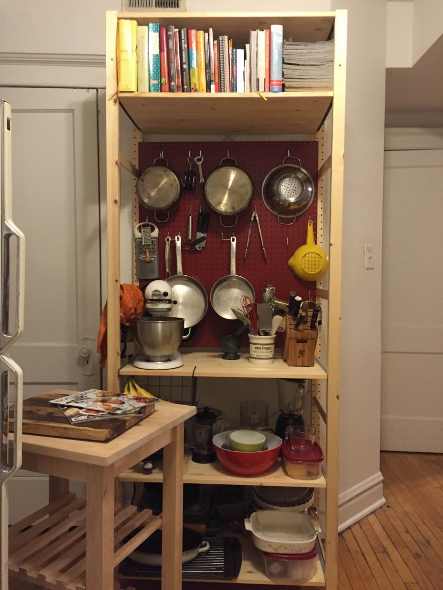 Pegboard Kitchen Making My Kitchen Pop With A Pegboard Ivar Unit Ikea Hackers