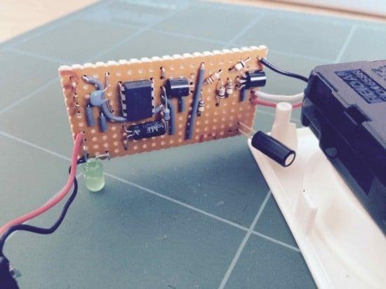 Child's Visual Alarm Clock - PCB Close Up
