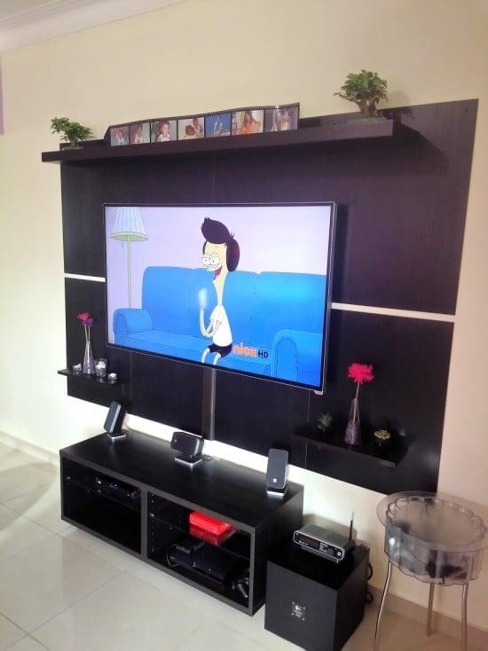 IKEA TV wall module from closet doors