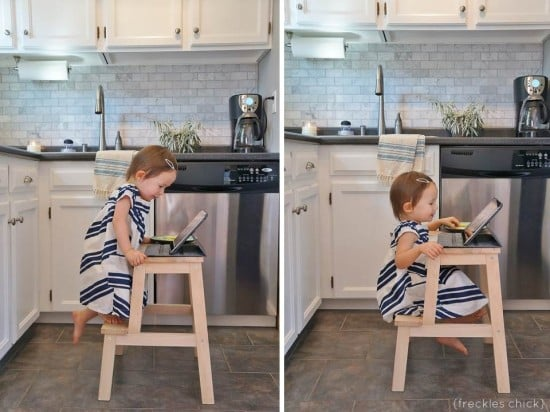 BEKVAM all-in-one kids table and chair